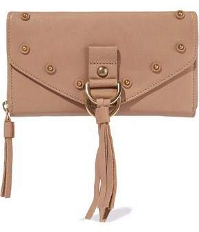See by Chloe Collins Tasseled Textured-Leather Continental Wallet