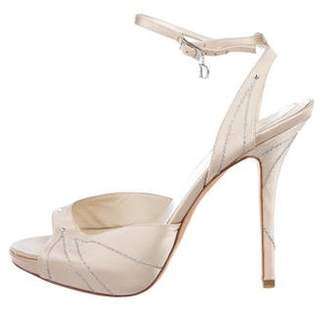 Christian Dior Satin High Heels Sandals