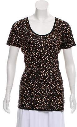 Torn By Ronny Kobo Embellished Short Sleeve Top