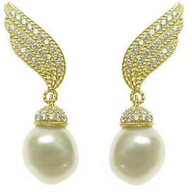 Judith Ripka 14K Clad & Cultured Pearl Ear Cli