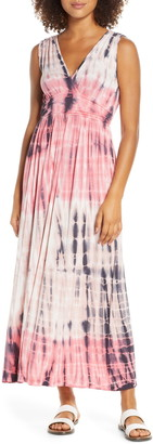 Fraiche by J Tie Dye Ombre Jersey Maxi Dress