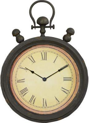 Trent Austin Design Antique Stopwatch Metal Wall Clock