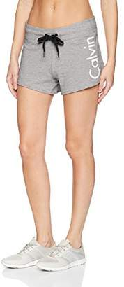 Calvin Klein Women's Logo Terry Short with Rib Inset