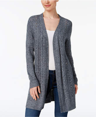 Karen Scott Cable-Knit Duster Cardigan, Created for Macy's