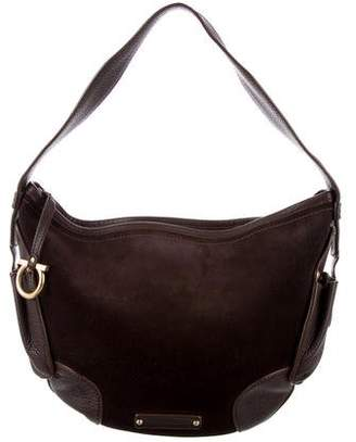 Salvatore Ferragamo Leather & Suede Hobo Bag