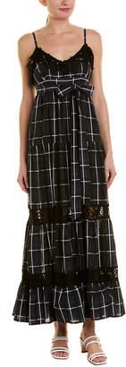 VETIVER Vetiver Communication Breakdown Silk-Blend Maxi Dress