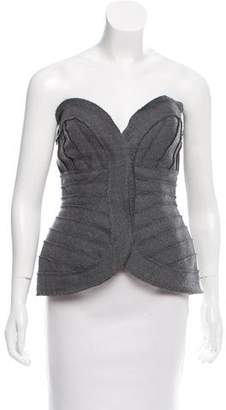 Herve Leger Strapless Wool Bustier Top w/ Tags