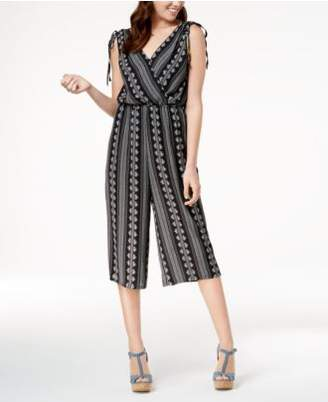 As U Wish Juniors' Cropped Wide-Leg Jumpsuit