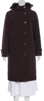 Prada Fur-Trimmed Padded Coat