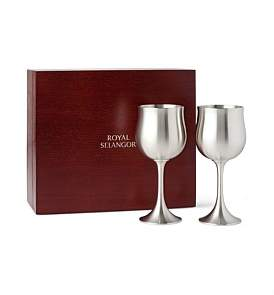Royal Selangor Water/Beer Set Of Two Goblets