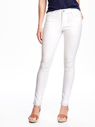 Mid-Rise Stay White Rockstar Skinny Jeans for Women $44.94 thestylecure.com