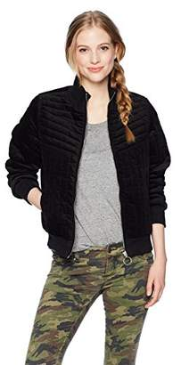 Volcom Junior's Outta My Lane Quilted Bomber Jacket