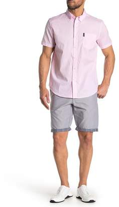 Ben Sherman Checked Cuff Cotton Shorts