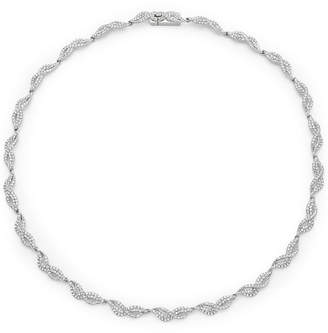 Adriana Orsini Crystal Helix Collar Necklace