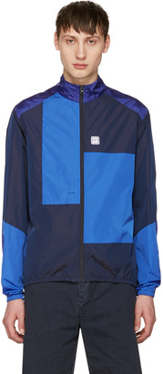 Noah NYC Navy Patchwork Track Jacket $270 thestylecure.com