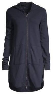 ATM Anthony Thomas Melillo French Terry Hooded Dress
