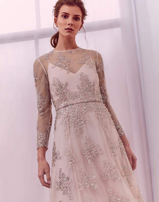 Ted Baker STAAR Embellished overlay midi dress