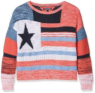 Tommy Hilfiger Girl's Animated Multi Stripe Bn Sweater Jumper
