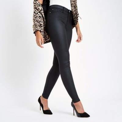 Black Shiny Skinny Jeans - Xtellar Jeans