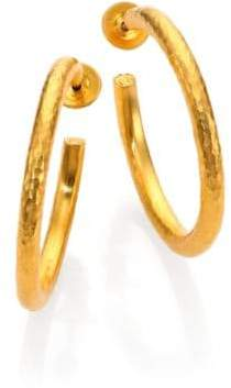 Gurhan Edifice 24K Yellow Gold Classic Hoop Earrings/1.25""