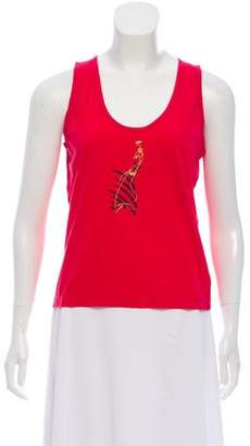 Sonia Rykiel Printed Sleeveless Top