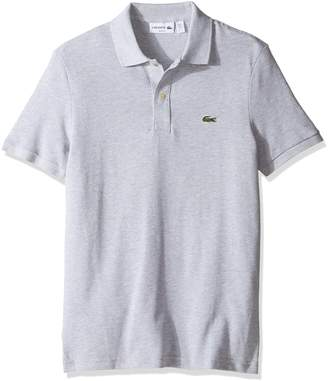 Lacoste Men's Classic Pique Slim Fit Short Sleeve Polo Shirt, PH4012-51, Silver/Grey Chine