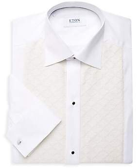 Eton Men's Pique Diamond Front Dress Shirt