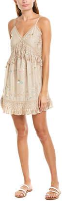 Love Sam Layla Silk-Blend Mini Dress