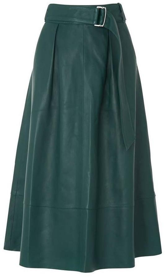 Green Leather Skirt - ShopStyle Australia