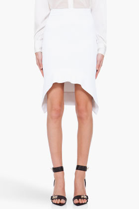 GIVENCHY White Double Knit Skirt