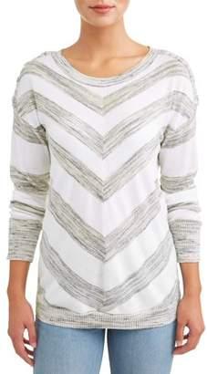 N. HEART CRUSH Women's Striped Sweater