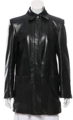 Gucci Fur-Lined Leather Coat