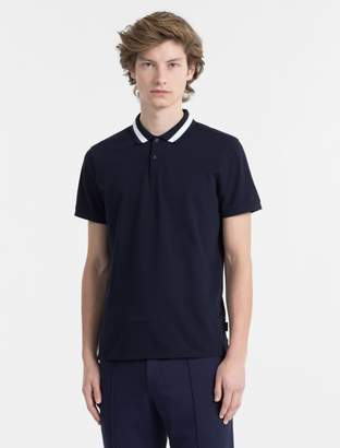 Calvin Klein slim fit tipped collar polo shirt