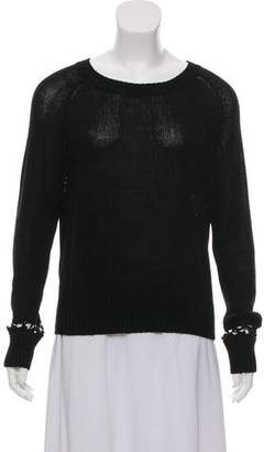 A.L.C. Embellished Scoop Neck Sweater