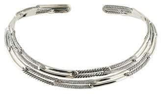 David Yurman Diamond Labyrinth Link Collar Necklace