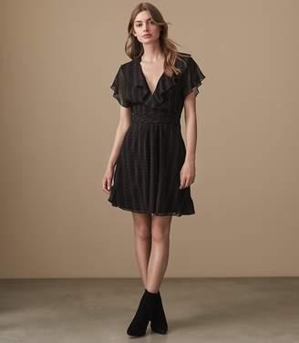 Reiss Adie Broken Stripe Printed Dress