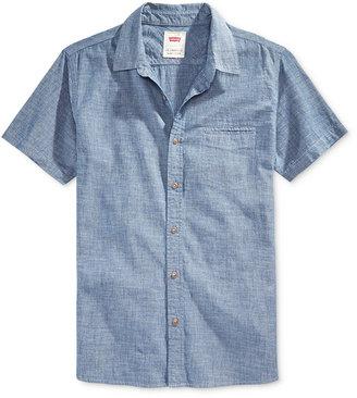 Levi's® Men's Short-Sleeve Chambray Shirt $54.50 thestylecure.com