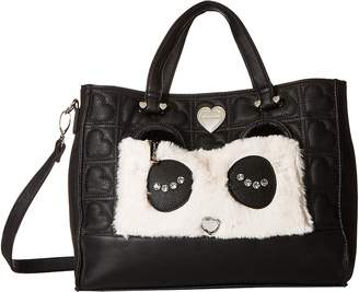 Betsey Johnson Kitsch Tote with Pouch Tote Handbags