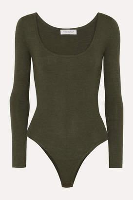 Gabriela Hearst Emily Cashmere-blend Bodysuit - Army green