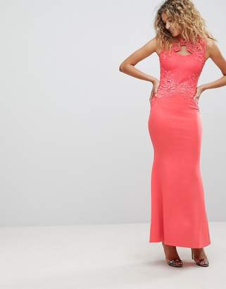 Lipsy Maxi Dress With Lace Detail