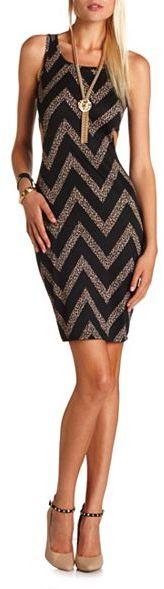 Charlotte Russe Cutout Body-Con Midi Dress