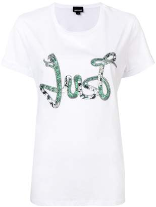 Just Cavalli sequin embellished T-shirt