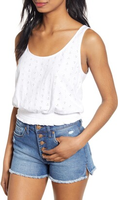 BP Schiffly Eyelet Tank Top