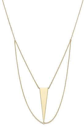 "Bloomingdale's 14K Yellow Gold Triangle Chain Bib Necklace, 18"" - 100% Exclusive"