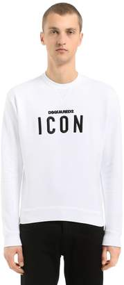 DSQUARED2 Icon Embroidered Cotton Sweatshirt