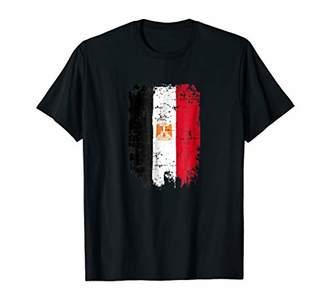 Egypt Flag T Shirt Distressed Vintage
