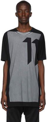 11 By Boris Bidjan Saberi Black Block Printed T-Shirt