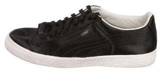 Sergio Rossi for Puma Satin Low-Top Sneakers