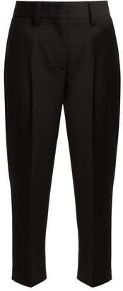 Acne Studios Wool And Mohair Blend Trousers - Womens - Black