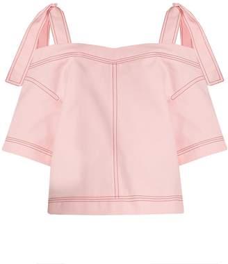 MSGM Cut-out shoulder cotton top